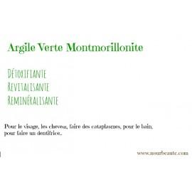 Argile verte illite, Argile Montmorillonite. 100 gr