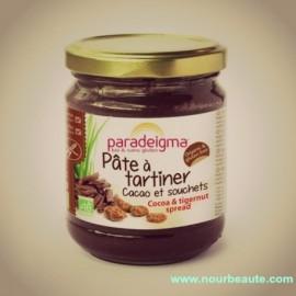 Paradeigma, Pâte à tartiner Bio au Cacao et Souchet, Sans Gluten, Sans Lait, Sans huile de palme, 200 gr.