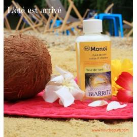 Monoï Bio, Fleur de Tiaré. Laboratoires de Biarritz, 100ml