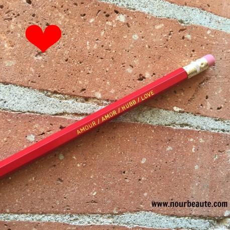 Amour, Crayon Personnalisé : Amour/Amor/ Hubb / love