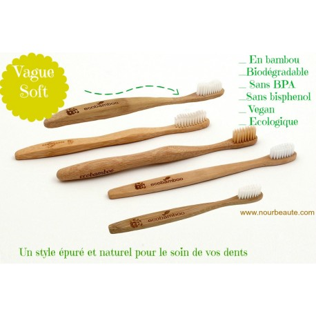 Eco-Bamboo, Brosse à dent en Bambou Biodégradable, Soft