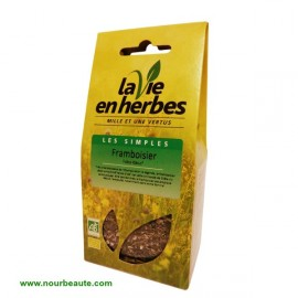 Feuilles de Framboisier Bio, La vie en herbes. 35 gr