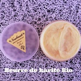 Beurre de Karité Bio, Grand Cru du Bénin certifié Commerce Equitable, Vierge, Non traité, Sans parfum.100 ml
