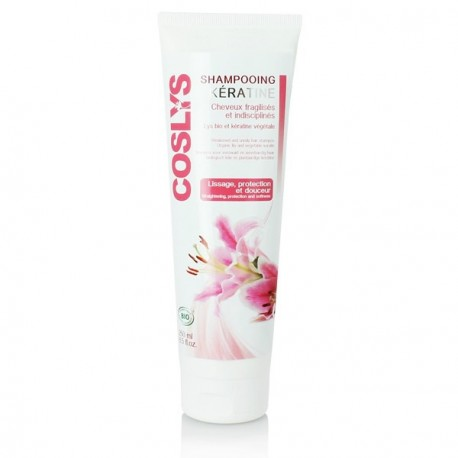 Cosyls, Shampoing Kératine, Cheveux fragilisés et indisciplinés, 250 ml