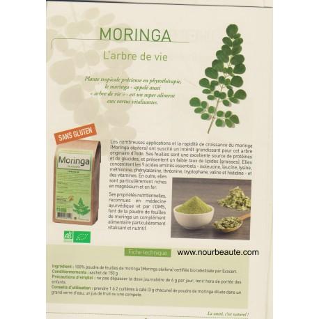 Moringa Bio en poudre, 150 gr