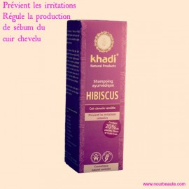 Khadi, Shampoing Hibiscus. Cuir Chevelu Sensible