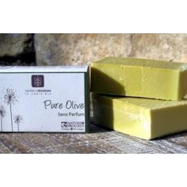 Savon bio à l'huile d'olive, Sans Parfum. Nature et progrès.