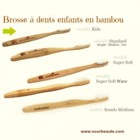 Brosse à dents enfants en bambou