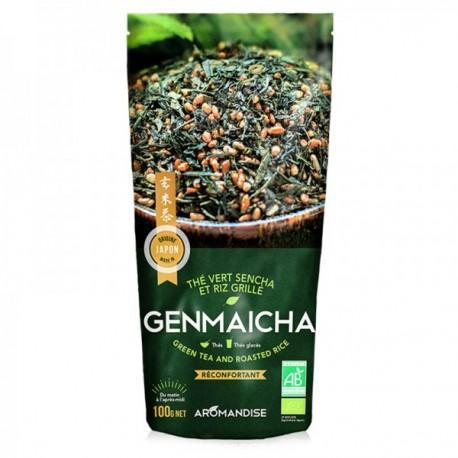 Aromandise, Thé vert genmaicha bio. 100 gr