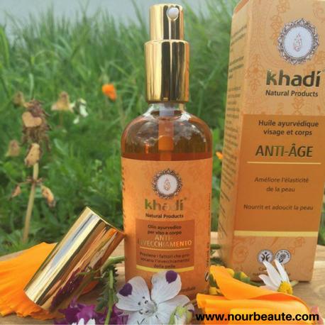 Khadi, Huile anti-âge bio 100Ml