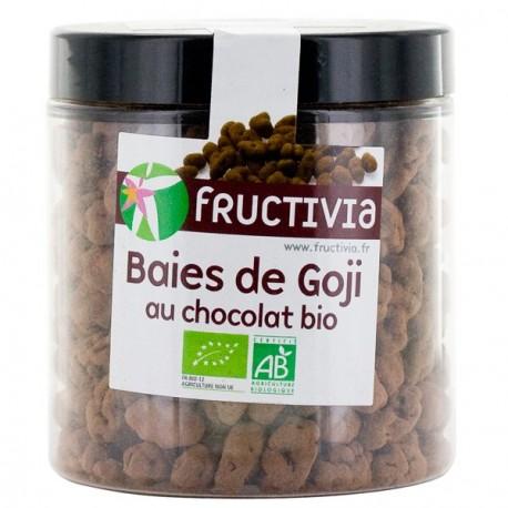 Baies de goji bio au chocolat noir. Fructivia, 150 Gr