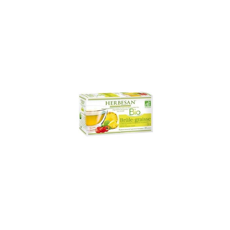 Infusion bio brûle-graisse au marté vert, thé vert, ananas