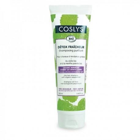 Shampoing Purifiant bio : Détox Fraîcheur pour cheveux à tendance grasse Coslys, 250 ml