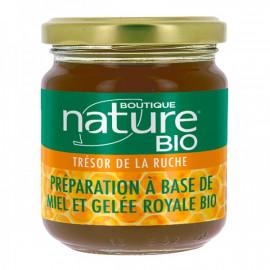 Miel Bio avec Gelée Royale Bio, 250 Gr