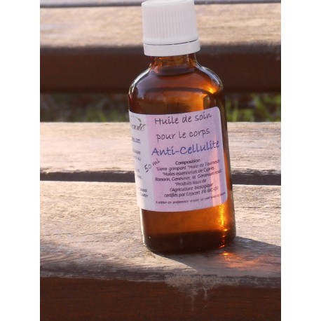 Huile de Soin Anti-Cellulite, 50 ml, Flacon en verre