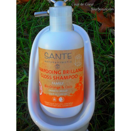 SANTE Shampoing Brillance Orange & Coco Bio, 250ml