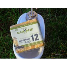 Saryane Savon d'Alep Authentique 12% Huile de baies de laurier,88% Huile d'olive 200gr