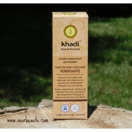 Huile de Soin Capillaire Purifiante, Khadi, 210 ml