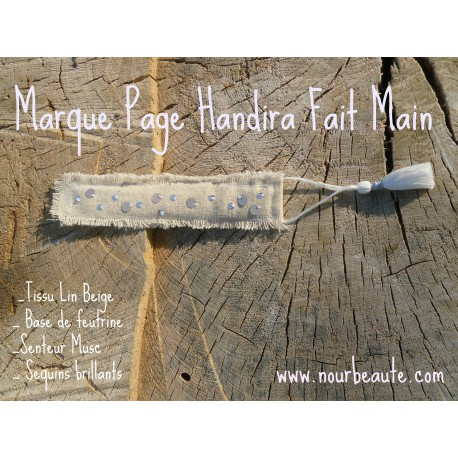 Marque Page Handira, Senteur Musc, Pompon Blanc