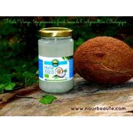 Ecoidées, Huile de coco Bio & équitable, pot de 200ml, Biosagesse