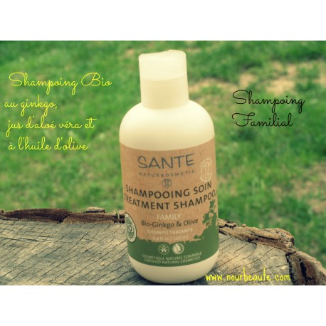 SANTE Shampoing Soin Gingko & Olive Bio, 250ml