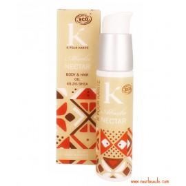 K pour Karité : Absolu Nectar, Huile Corps & Cheveux, 49,3 % de Karité, 50 ml