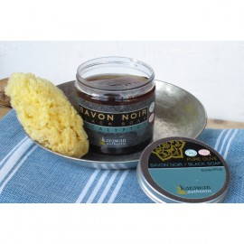 Savon Noir à l'Eucalyptus, Emballage en verre Pot Hexagonal