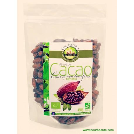 Ecoidées, Fèves de Cacao Biologiques Entières Crues - Non Torréfiées, 400g