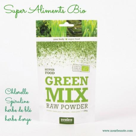 Purasana, Green Mix, Superaliments bio, 200 gr