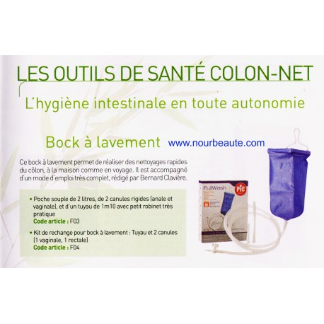 Bock à Lavement : Set de lavement intestinal et vaginal par irrigateur
