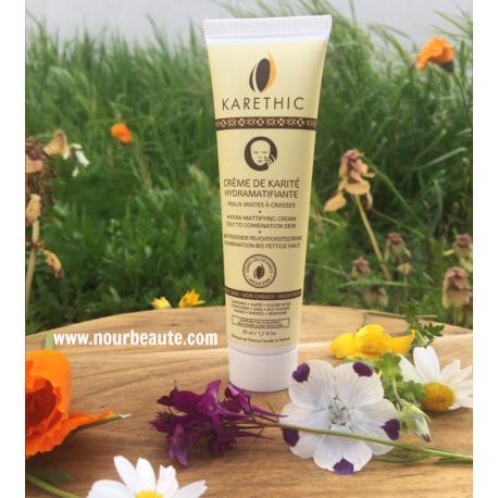 Karethic, Crème de karité bio Hydramatifiante, Peaux Mixtes à Grasses