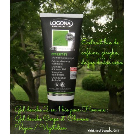 gel douche, shampoing bio homme